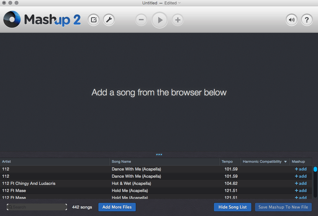 Add your music to Mashup
