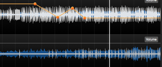 Edit the volume parameter